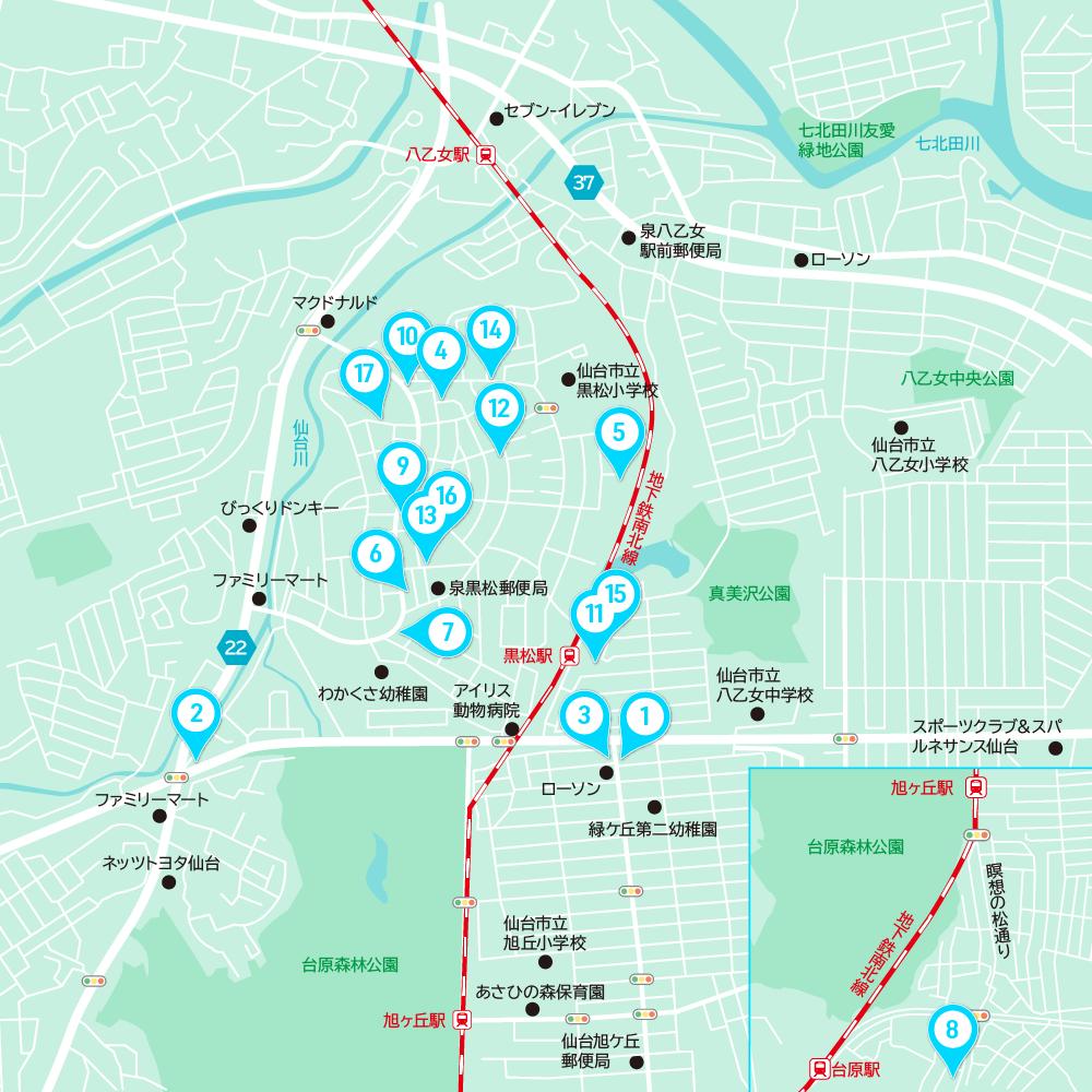 黒松商店街マップ